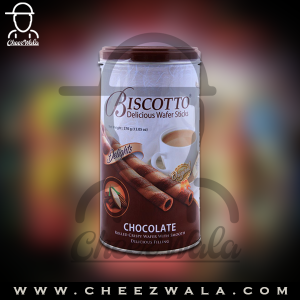 Biscotto | Delicious Wafer Sticks Chocolate 370gm Tin